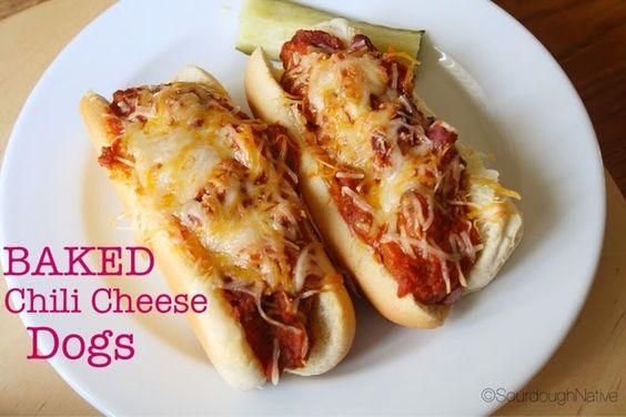 SourdoughNative: Baked Chili Cheese Dogs