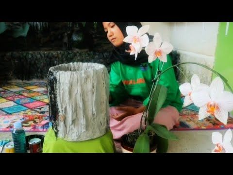 Membuat Pot Bunga Dari Kain Bekas Youtube Bunga Pot Bunga Kain