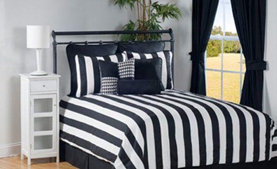 Interior 4 Pc City Stripe Black And White Stripe Daybed Bedding