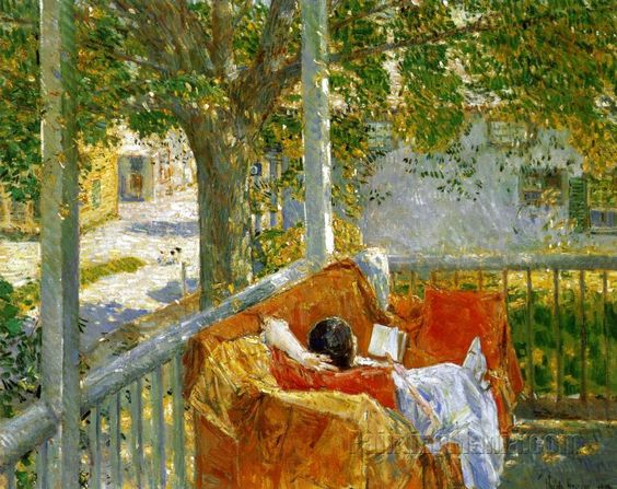Couch on the Porch, Cos Cob by Frederick Childe Hassam