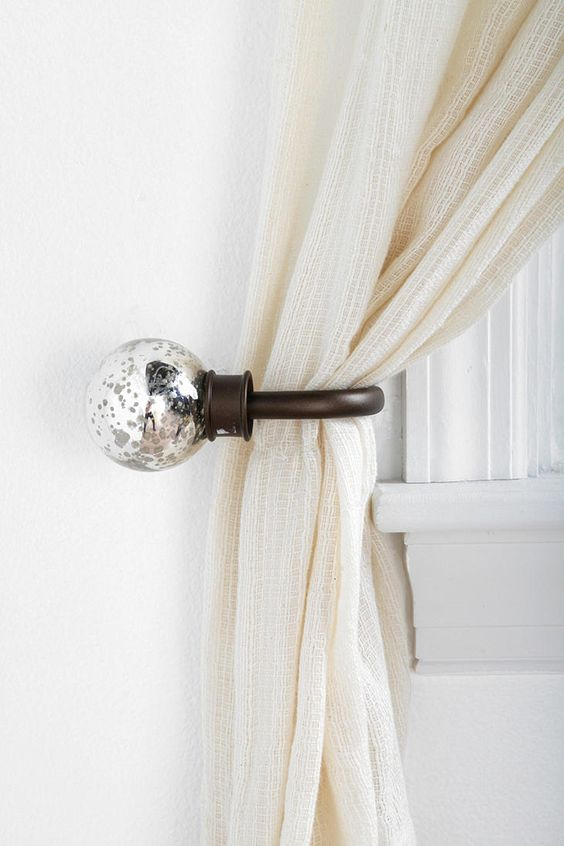 Curtains Ideas curtain hook tie backs : I'm thinking this tie with the curtains I just purchased ...