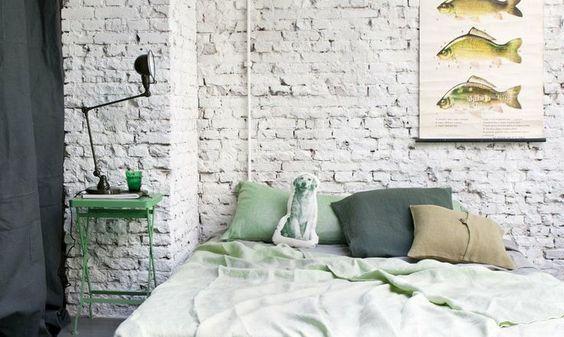 stenen muur wit verven - Google zoeken