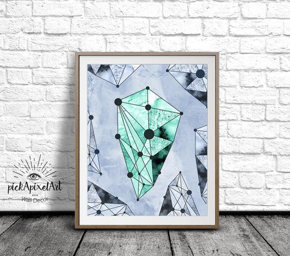 Geometric Minimalist Wall Art Modern Geometric by pickApixelArt