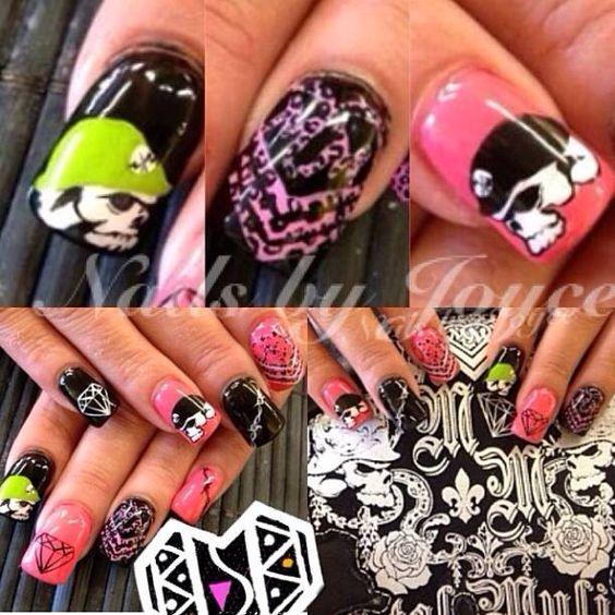 Metal mulisha nail art | Bro hoe | Pinterest | Nail art, Metals and Art