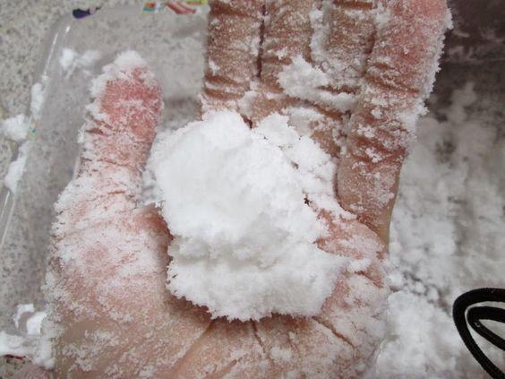 cómo hacer nieve casera
