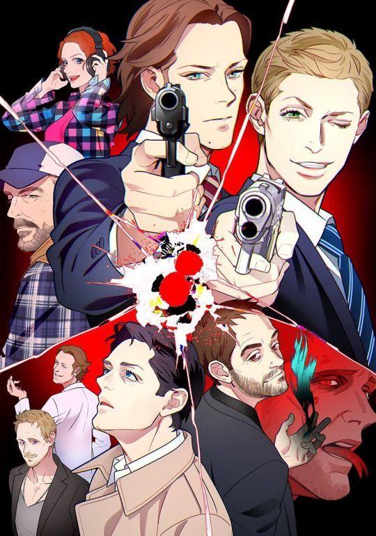 Anime Style Supernatural Fanart Spn Supernatural Drawings Supernatural Destiel Supernatural Fan Art