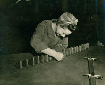 Woman working as a draftsman