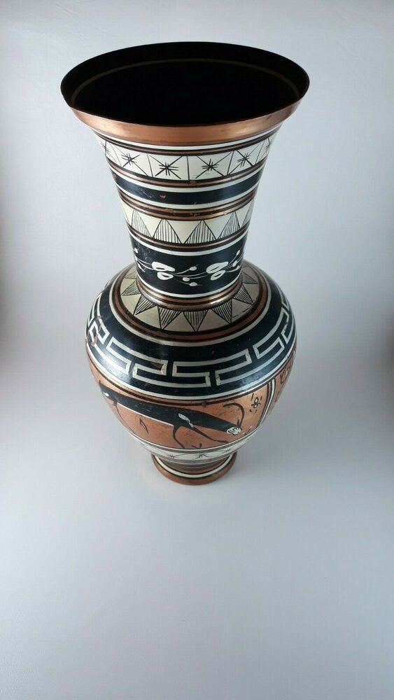 b Green and Copper Vase