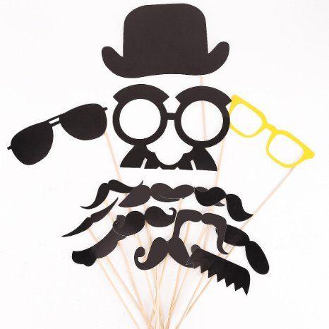 32 X Party Foto Verkleidung Partymitbring Schnurrbart Lippen Brille Photo Booth Props Zubehör für Liebepaar Valentinstag Hochzeit: Amazon.de: Spielzeug