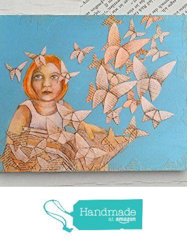 Für Bücherwürmer, Glückwunschkarte Origami Schmetterlinge, ein Mädchen liest ein Buch, Buchseiten, Schmetterling, Geschenk Karte für Mädchen, Leseratte, Buchgutschein von der Atelier Dorothea Koch https://www.amazon.de/dp/B01NA6RGVP/ref=hnd_sw_r_pi_dp_qLQlyb5S0QDP0 #handmadeatamazon