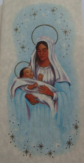 Madonna and child. | 17 Beautifully Festive African-American Christmas Cards From The 1950s And '60s