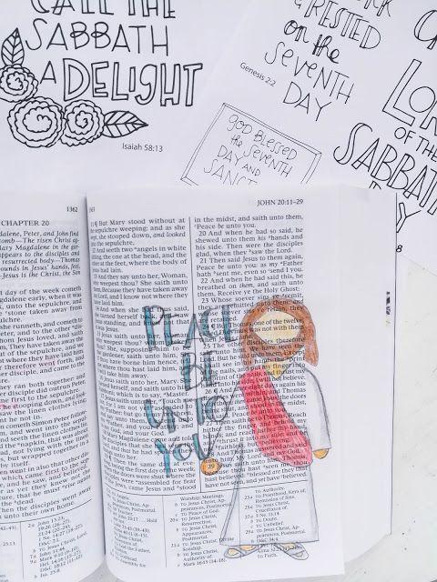 Sabbath Day Sketchnotes Scripture Study Journal Scripture