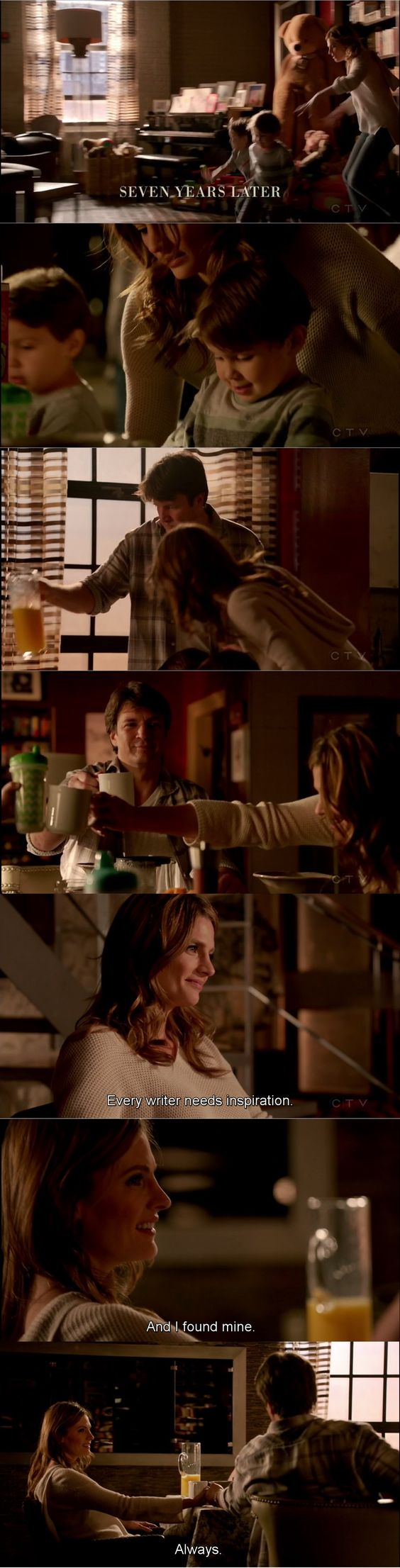 """""""Every writer needs inspiration. And I found mine. Always"""" - Rick, Kate and the little Castles #Castle"""