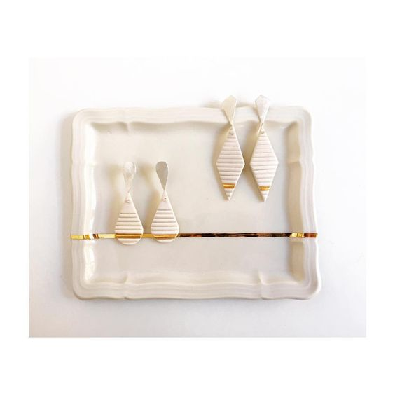 Pilar Cotter - Mini racionalismo - porcelain earrings