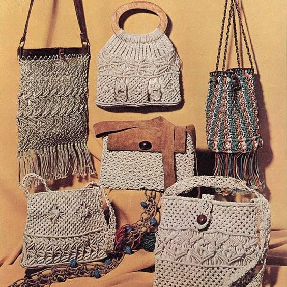 Macrame Purses I Have This Book I Made The Upper Left