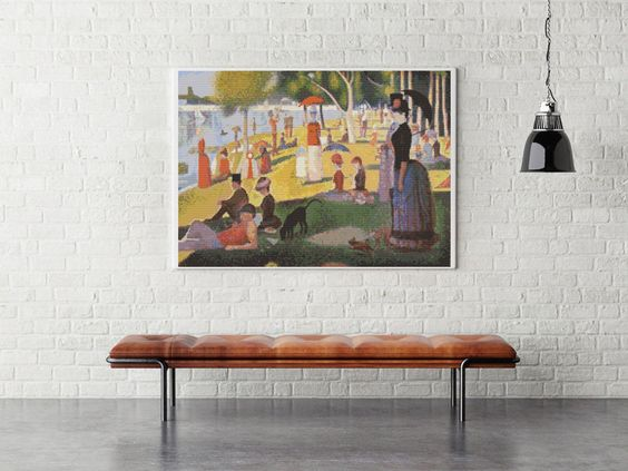 Counted Cross Stitch KIT A Sunday Afternoon on the Island of La Grande Jatte by Georges Seurat by TheArtofCrossStitch on Etsy. Also available in PDF. #crossstitch: