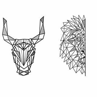 Bull Geometric Tattoo  Szukaj W Google Tattoos Pinterest