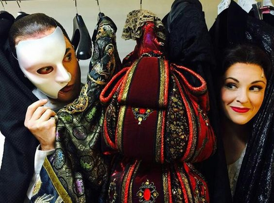 Brad Little,Emilie Lynn  Erik&Christine hide and seek,backstage