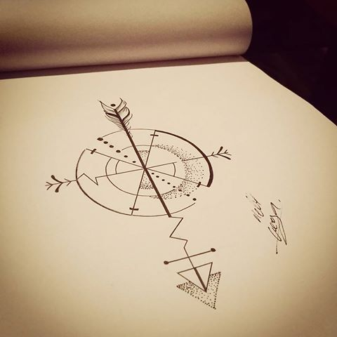Un peu de maths pour le soir  #tattoo #tatouage #tatoueuse #illustration…: