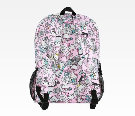 Hello Kitty Mega-Zipper Backpack: Pop Art Pink