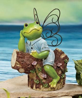 Fairy Frog Statues BOY