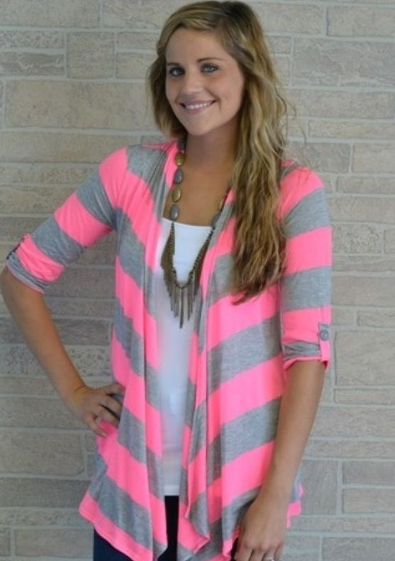 Love the colors! Neon pink and rather gray!