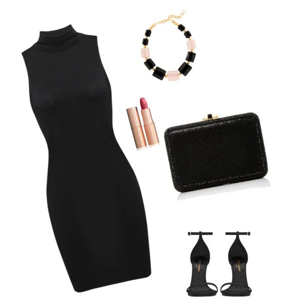 """""""Untitled #683"""" by eshkapeesh on Polyvore featuring DIANA BROUSSARD, Yves Saint Laurent, Judith Leiber and Charlotte Tilbury"""