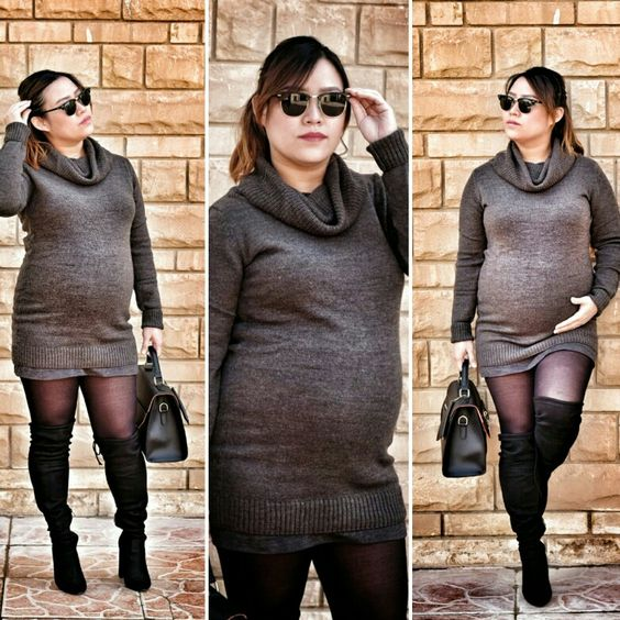 Hello baby bump! You're my best and cutest accessory of all.. #maternitystyle #winteroutfit