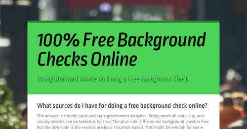 A Real Free Guide To Using Local Record Websites When Performing A Free Background Check Onlin Free Background Check Background Check Background Checks Website