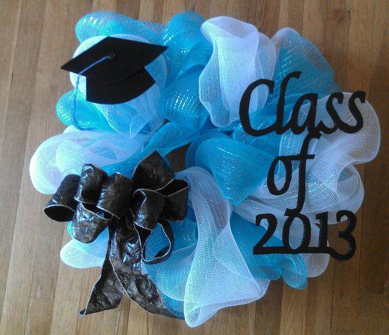 Graduation Wreath: Byrnes Colors, Ace Graduation, 2013 Graduation, Daniels Graduation, Alexis S Graduation, Ali Graduation, Graduation Wreath, Crafts Deco Holidaywreath, Adrianna Graduation