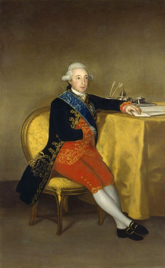 Francisco de Goya. 'The Count of Altamira' 1787. Madrid, Banco de Espana