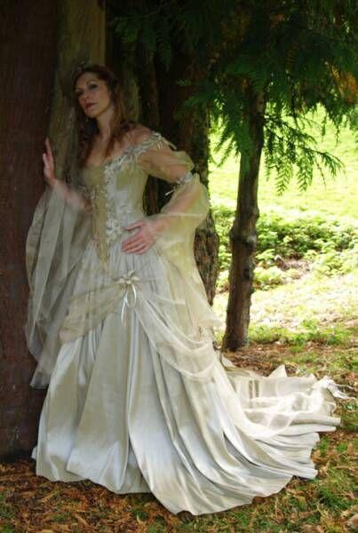 Fairy wedding dress style titania medieval sci fi dress for Fairy inspired wedding dresses