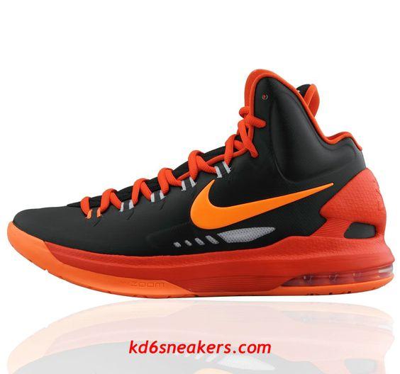 Nike Zoom Kevin Durant KD 6 Orange Black Basketball Shoes | Nike Basketball  Shoes | Pinterest | Nike zoom, Black basketball shoes and Nike kd vi