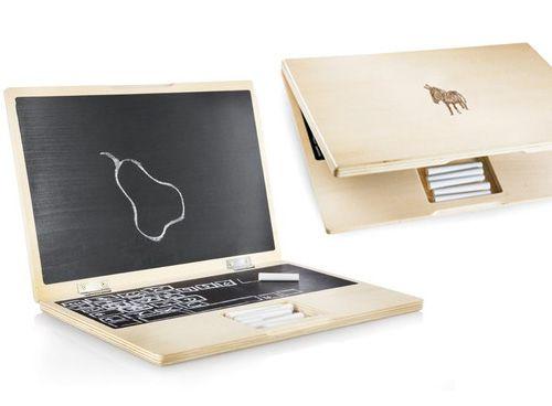 iWood chalkboard toy laptop