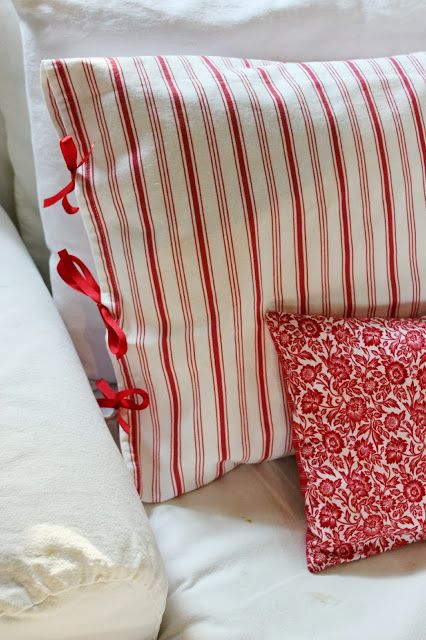 Red and White:  A Happy Combo.  via Happy At Home