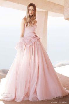 Vera Wang Blush Pink Wedding Dress With Wedding Dress $650