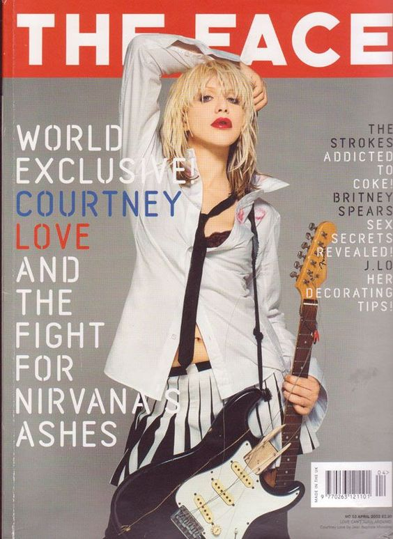 Courtney Love - The Face Magazine Cover [United Kingdom] (April 2002)
