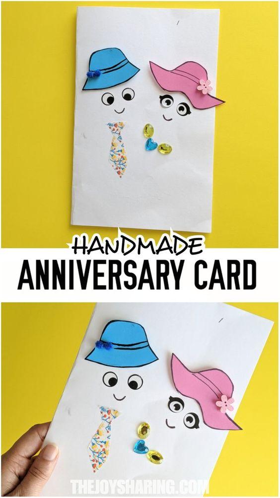 Handmade Anniversary Card Anniversary Cards Handmade Diy Anniversary Gift Anniversary Cards