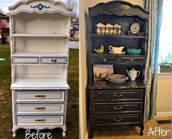 Simple diy... hutch before and after