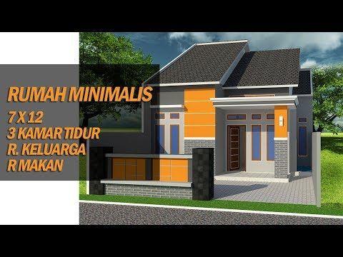 desain rumah elegan ukuran 7x12 - desain rumah