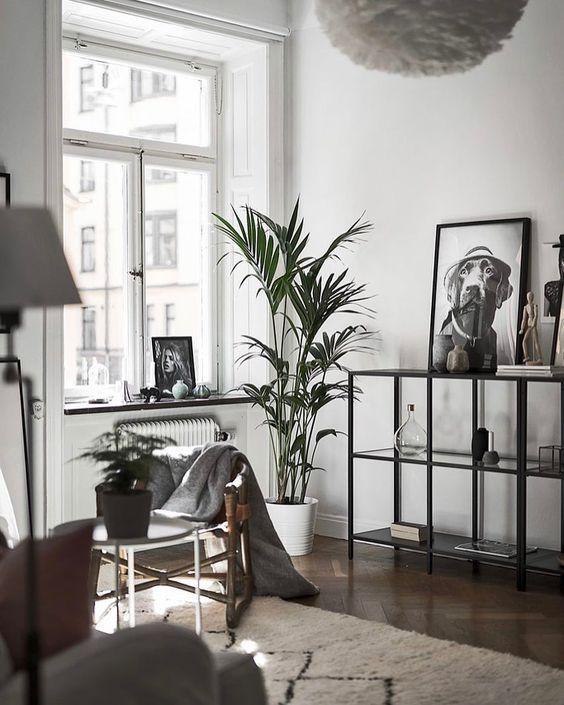Modern Scandinavian Design Living Room Interior With Dark Floor Scandinavian Design Living Room Living Room Scandinavian Living Room Designs