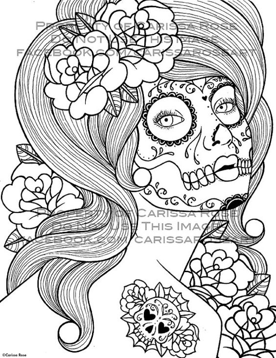 digital download print your own coloring book outline page benumbed by carissa rose never die - Print Your Own Coloring Book
