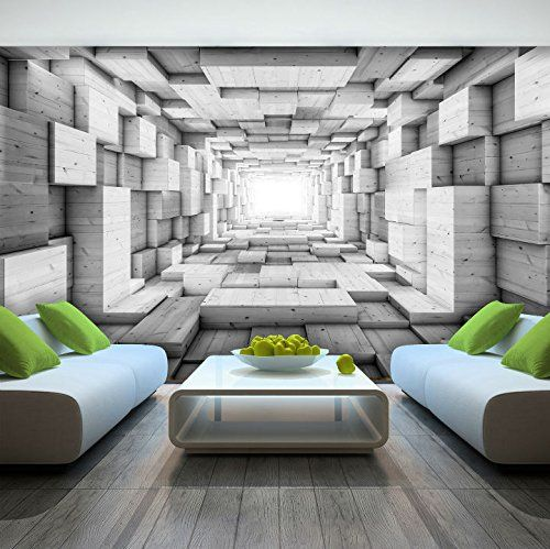 Photo Wallpaper Wooden 3d Effect Abstract Tunnel Wall Mural 3248ve 416cm X 254cm Wxh Amaz Wallpaper Designs For Walls 3d Wallpaper For Walls Wall Murals