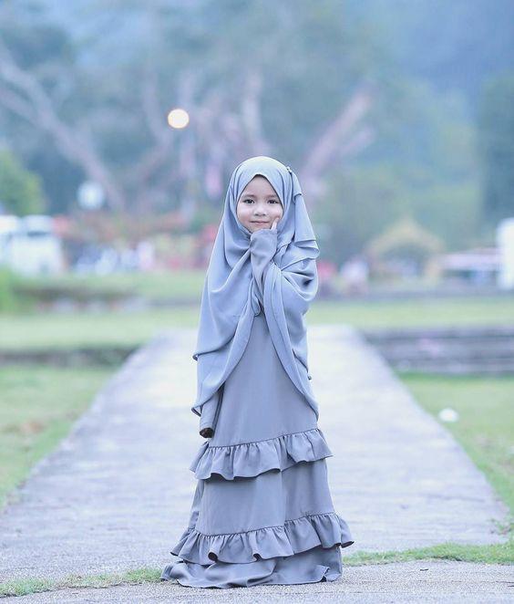 Model Baju Muslim Anak Perempuan Terbaru 2019