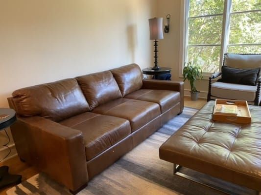 Softline Leather Sofa In Splendor, Soft Line Leather Sofa