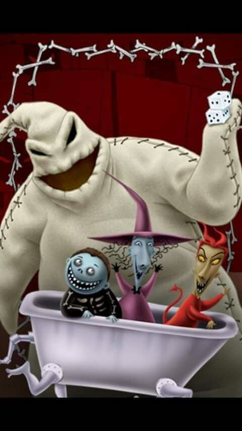 Oogie Boogie And Lock Shock Barrel Nightmare Before Christmas Drawings Nightmare Before Christmas Tattoo Sally Nightmare Before Christmas