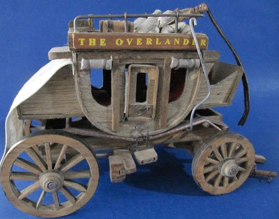 Stagecoach Wagon The Overlander Vintage Wood Old West Rustic Country Western #Stagecoach at JustLuvTreasures.com