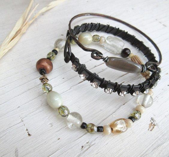 Dans Un Eclair De Strass !!!!! : les 3 bracelets shabby chics !!!!!! : Bracelet par les-reves-de-minsy