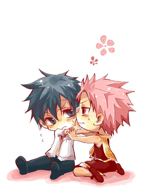 Chibi, Gris and Fairyt... Fairy Tail Happy Dragon