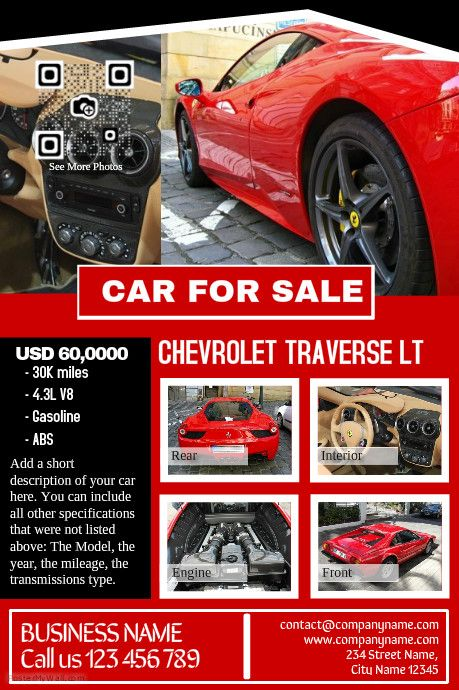 Car for sale Pre made print template Professional design http – Car for Sale Flyer